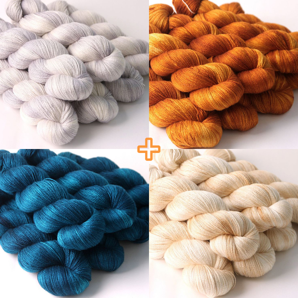 delicious yarns : silk merino lace from Hedgehog Fibres | Emma Lamb