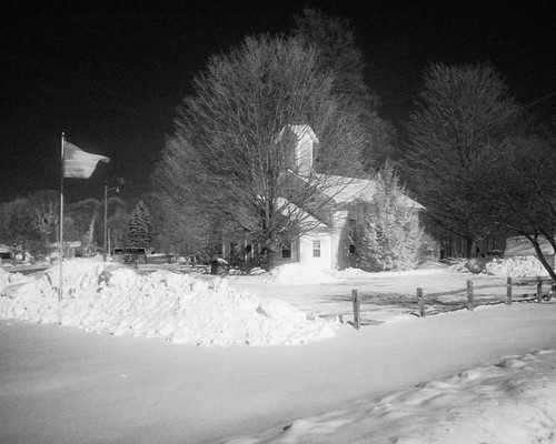 winter snow tree church flag infrared handheld filterhoyar72 alienskinexposure2 olympusmzuikodigital17mmf28 olympuszuikodigital17mmf28pancake olympuspenepl1micro43micro43 olympuspenvf2viewfinder