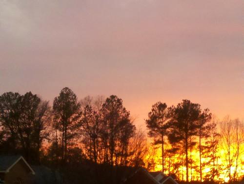sunset colors droidx