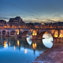 Ponte degli Angeli by night, Rome - Italy best photos --- Explore #40