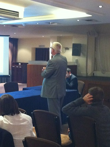 Commercial director Chris Tossell entertains users in the Dashboard breakout session