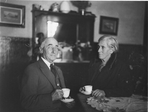 Old couple having tea (ALP Municipal elections, Balmain), n.d., by Sam Hood