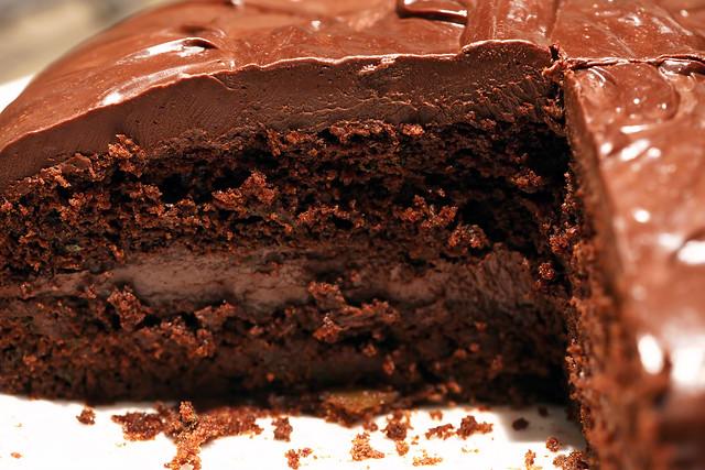 Devil's Food Cake w/ Chocolate Ganache | Flickr - Photo Sharing!