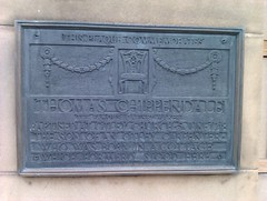 Photo of Thomas Chippendale black plaque