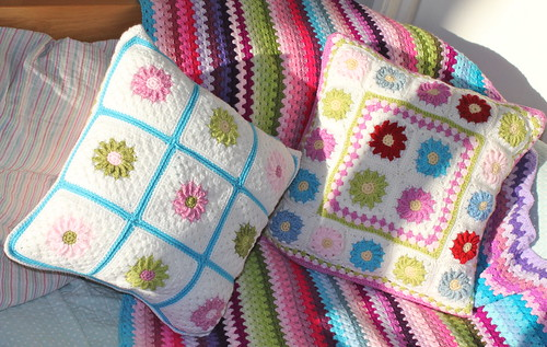 Spring colours cushions
