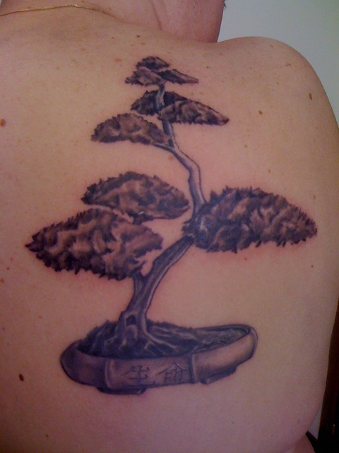 bonsai tattoo by pictures to pin on pinterest tattooskid. Black Bedroom Furniture Sets. Home Design Ideas