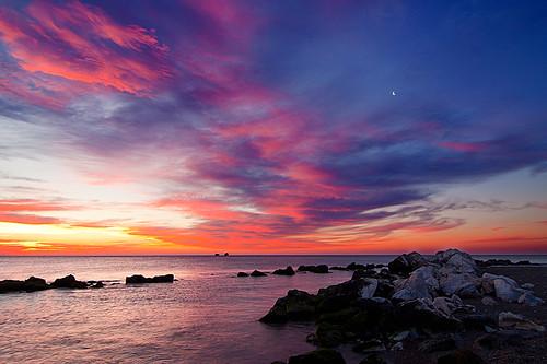 sea sky night clouds sunrise mar rocks cloudy amanecer cielo malaga rocas mediterráneo 1601 guadalmar platinumheartaward quinoal amanecerenmálaga