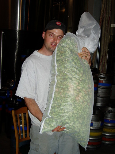 Hugging the wet-dry-hops bag