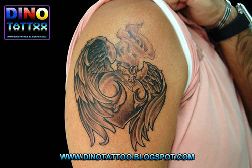 Tattoo Heart Wing Angeltatuaje Corazon Alas Tatuagem Cor Flickr