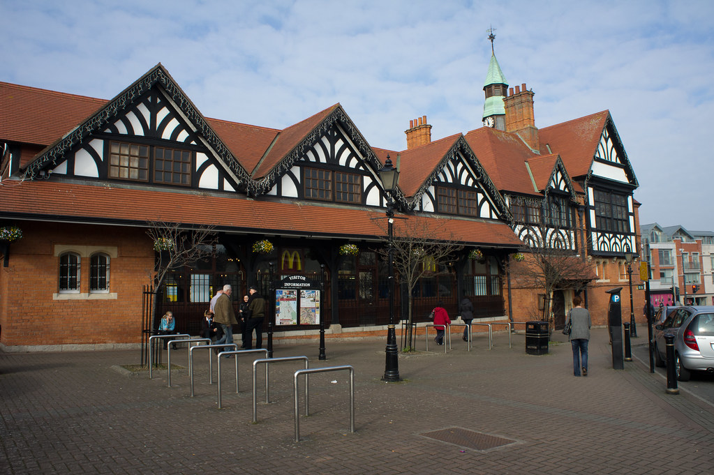 McDonalds Fast Food Restaurant in Bray is located in the historic Town Hall