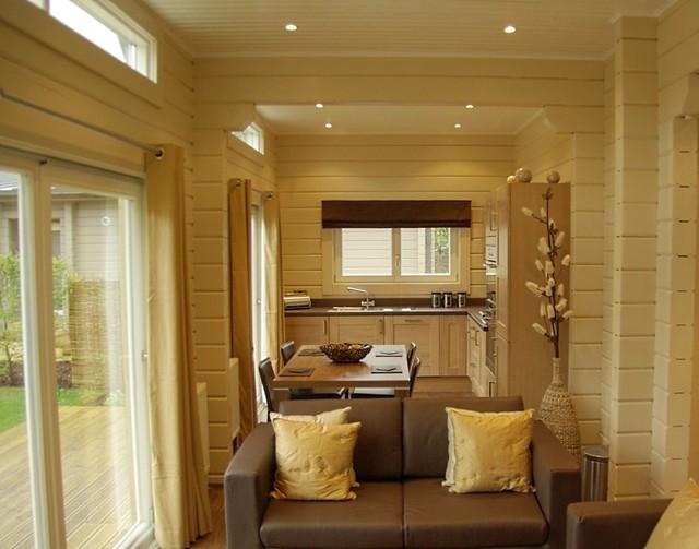 Interieur foto van een houten huis houtstapelbouw flickr photo sharing - Huis exterieur ...