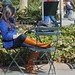 Lunch-time dozing in Bryant Park - Mar 2011
