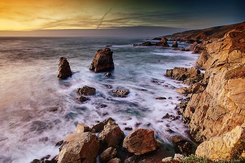 ocean california park sunset seascape landscape big surf state pacific carmel sur garrapata