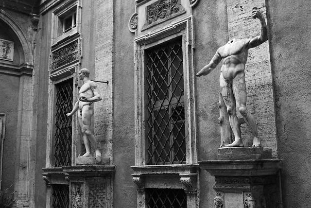 Palace Courtyard Statuary