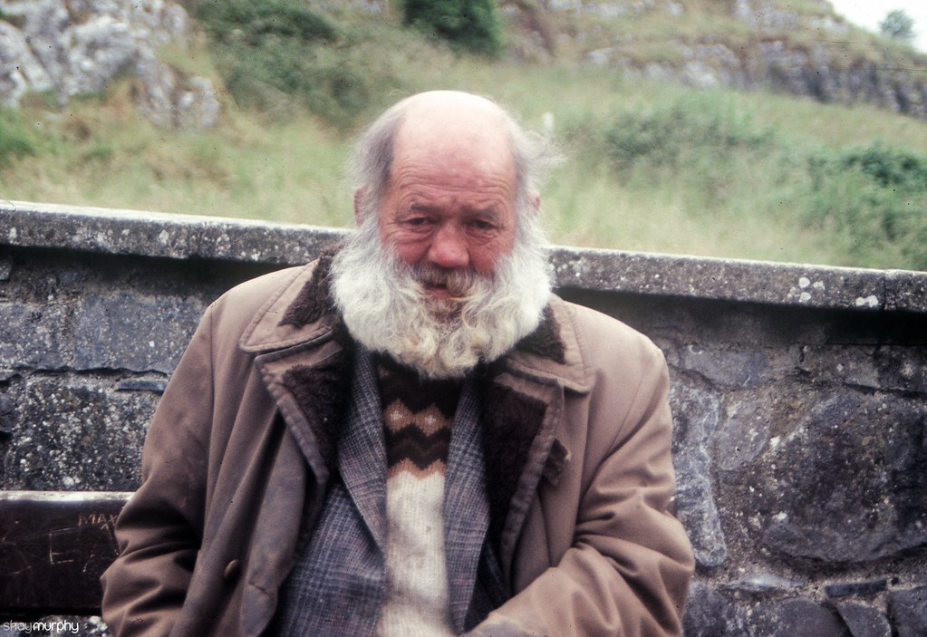Homeless man, Rock of Cashel, Tipperary. June 1992.