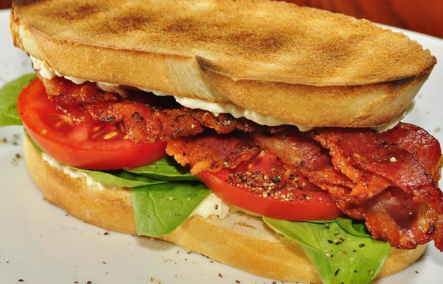 Mmm... bacon, spinach, and tomato