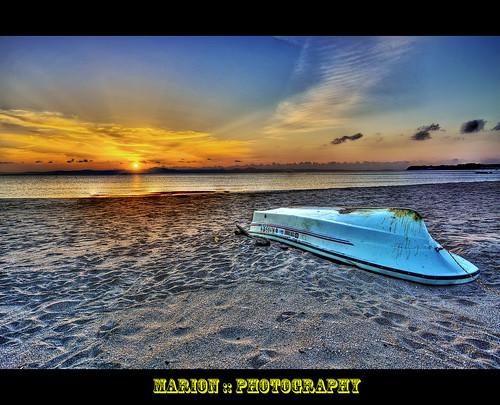 seascape beach japan sunrise boat her help muira afterearthquake