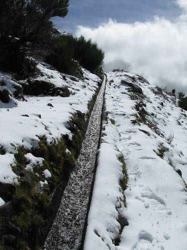 Snow on Madeira by Madeira Island