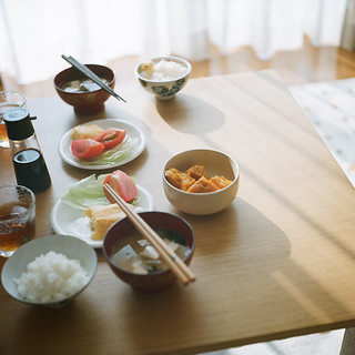 "誰かとの朝食  ""goodmorning with you."""