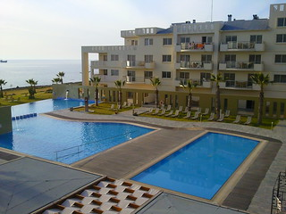 View from our balcony at Capital Coast Resort Paphos