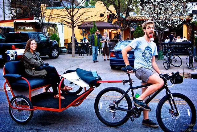 Keeping Austin Weird...in a Pedicab