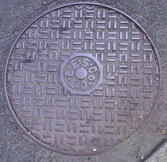symmetry, manhole, manhole cover, circle, road surface,