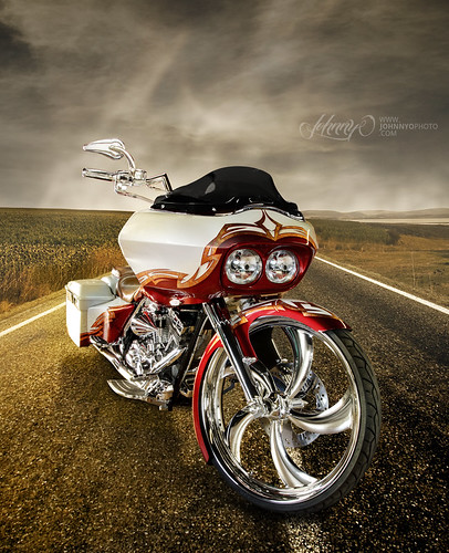 Custom Bagger Motorcycle