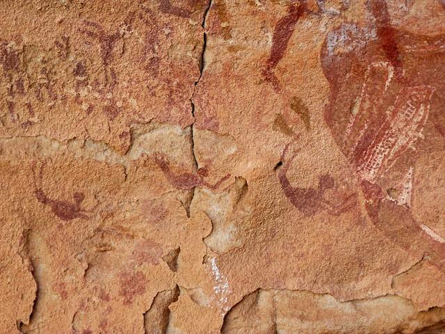 Escena de la cueva de los nadadores (Wadi Sura, Egipto)