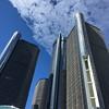 Look up! RenCen at Detroit Riverfront