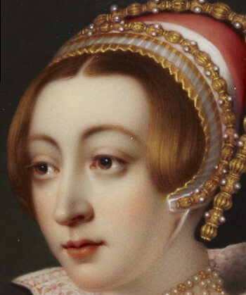 Detail of a portrait of a young woman called Anne Boleyn