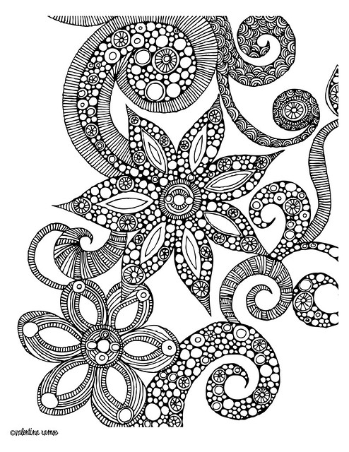 detailed flower coloring pages printable - photo#24
