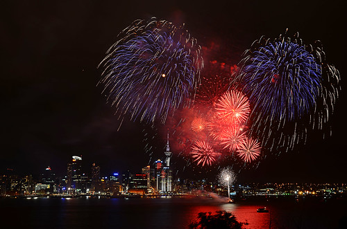 Auckland Anniversary celebrations as seen from Devonport