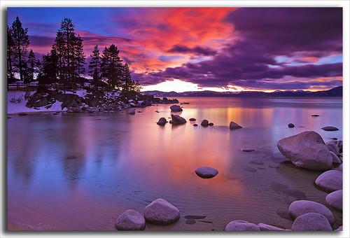 longexposure sunset sun reflection nature water skyline clouds canon laketahoe amazingcolors ndfilter sandharbor 1635mmf28l canoneos5dmarkii mshaw 5dmark2 aphotographersnature