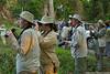 Tourists observing Kaziranga's wildlife