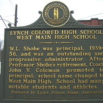 Lynch Colored High School Historic Marker