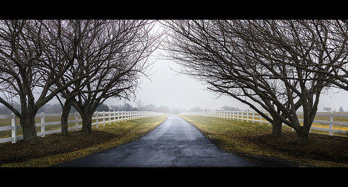 road rain fog fence entrance maryland welcome calvert disappear fadeaway calvertcounty