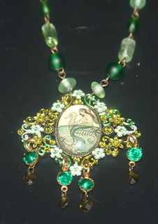 Mermaid Necklace Cameo