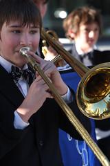 violinist(0.0), tuba(0.0), trumpeter(0.0), singing(0.0), violist(0.0), classical music(1.0), musician(1.0), trumpet(1.0), trombone(1.0), music(1.0), brass instrument(1.0), wind instrument(1.0),