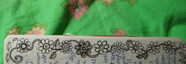 Flower Garland border - on the edge doodle by iHanna