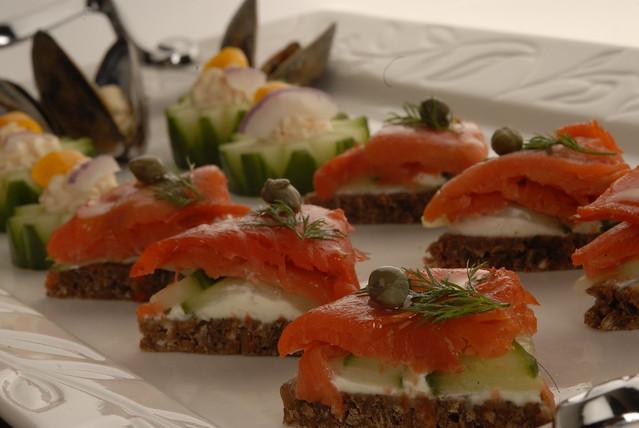 Smoked Salmon Canapes   Flickr - Photo Sharing!