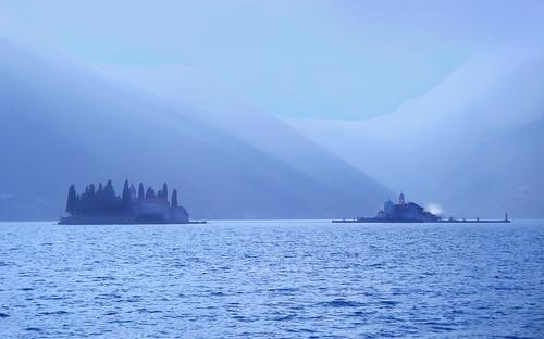 blue love fairytale islands mediterranean fjord adriatic adriaticsea jadran perast bokakotorska crnagora boka mareadriatico jadranskomore ostrva gospaodskrpjela svetidjordje sandradjurbuzovic