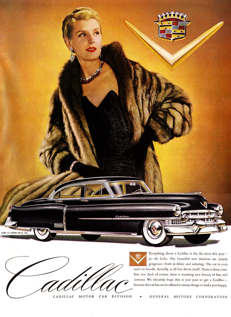 Giant Lady Loves Cadillac!