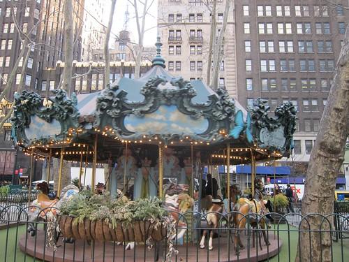 Bryant Park. Carrousel