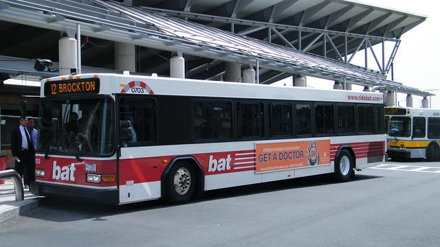 Bat Gillig Bus 0703 At Ashmont Station Flickr Photo