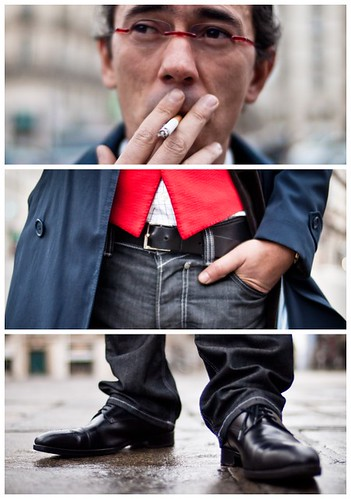 Triptychs of Strangers #8: The prevented Smoker, Paris