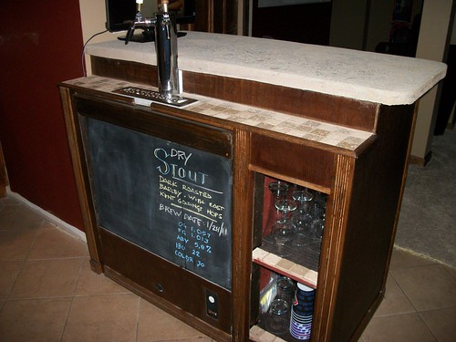 Keezer bar build for the o 39 leathlobhair brewery home for Home bar with kegerator space