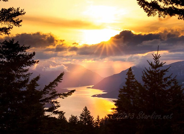 Let Your Light Shine!~    Columbia Gorge from Above #1  (series)