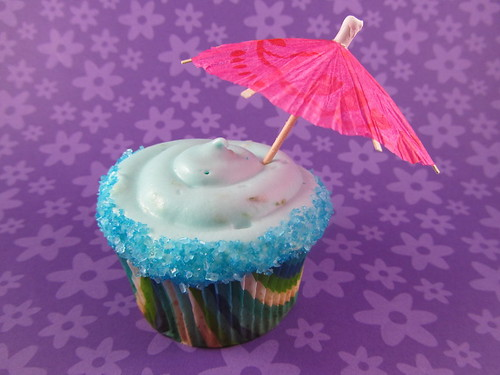 Blue Curacao Margarita Cupcake