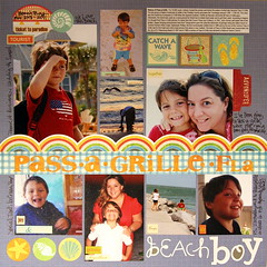 Pass-A-Grille Beach - 8 Photos Scrapbook Page
