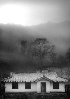 Farmers house in the countryside - North Korea
